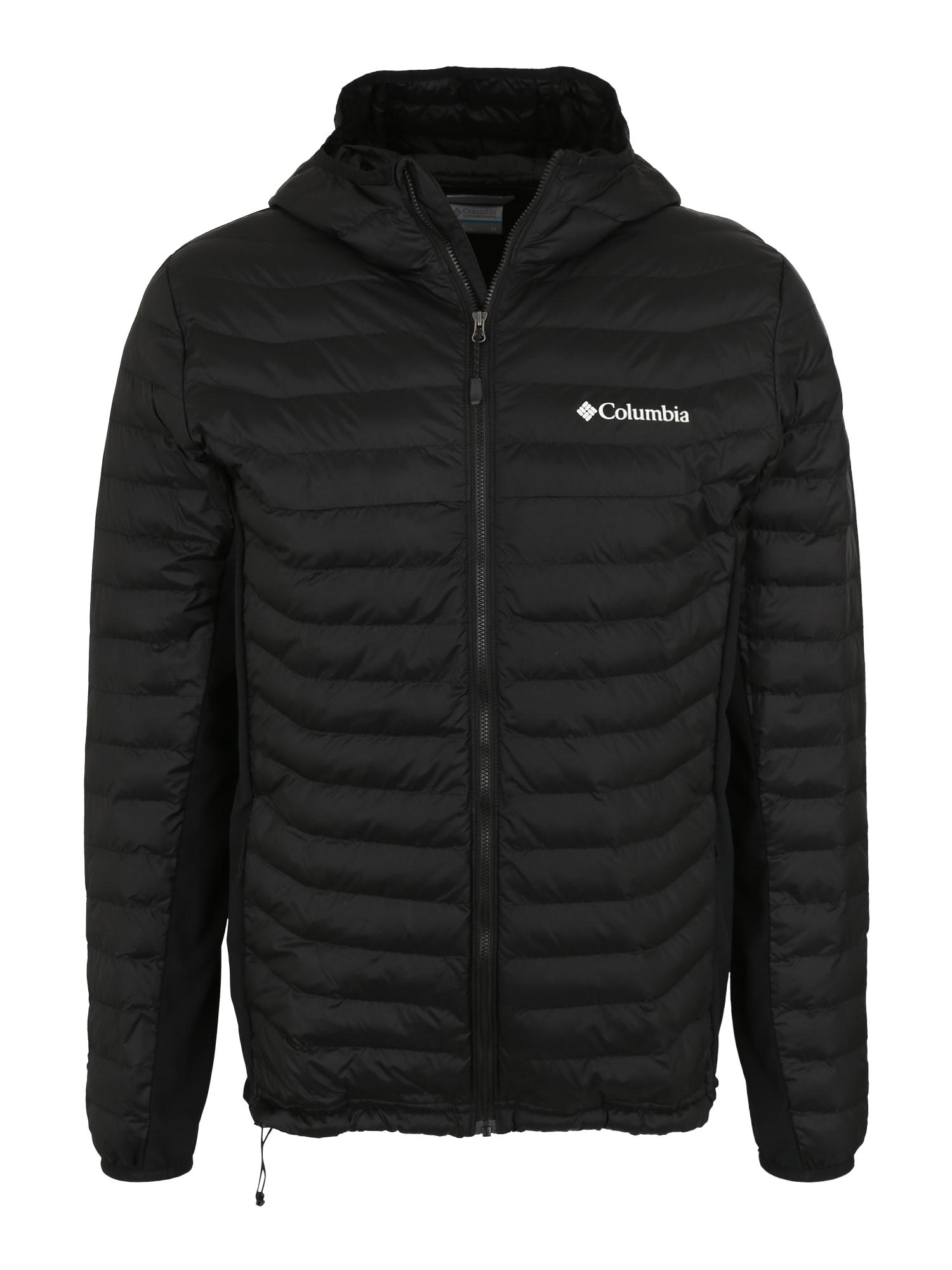 COLUMBIA Sportinė striukė 'Powder Pass Hooded' juoda