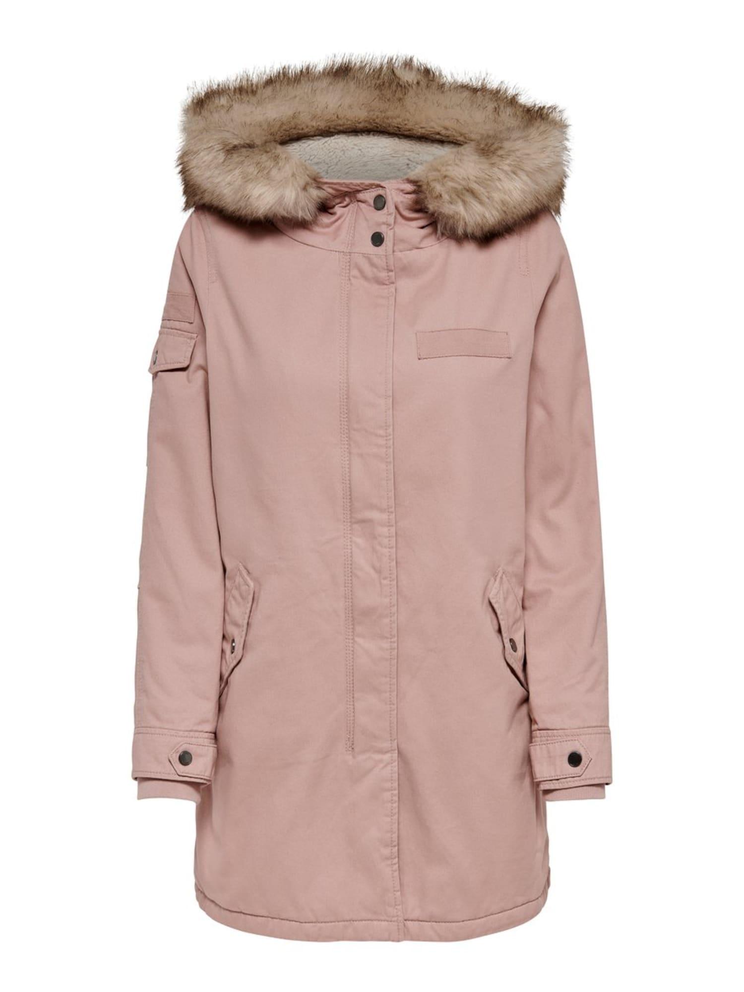 ONLY Ilga rudeninė-žieminė striukė 'MAY' rožinė
