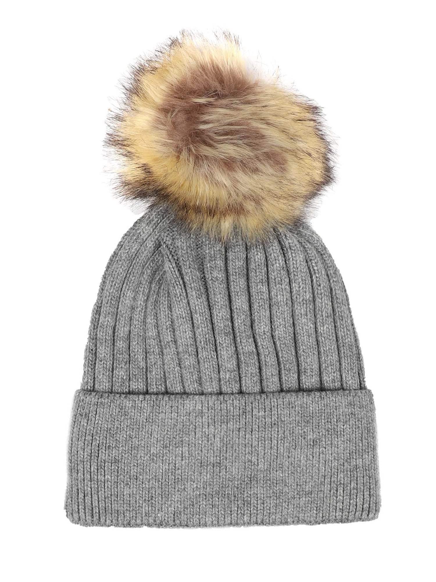 ABOUT YOU Megzta kepurė 'Talia' pilka