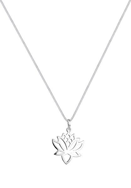 Ketten für Frauen - ELLI Kette 'Lotusblume' silber  - Onlineshop ABOUT YOU