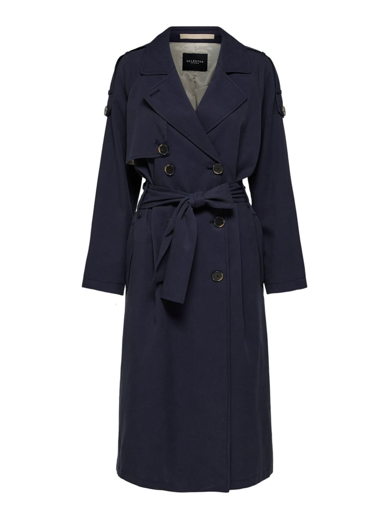SELECTED FEMME Rudeninis-žieminis paltas nakties mėlyna