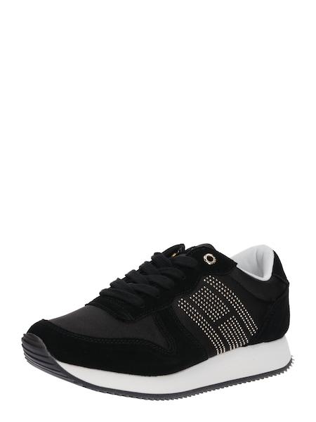 Sneakers für Frauen - TOMMY HILFIGER Sneaker 'SPARKLE SATIN CITY' schwarz weiß  - Onlineshop ABOUT YOU