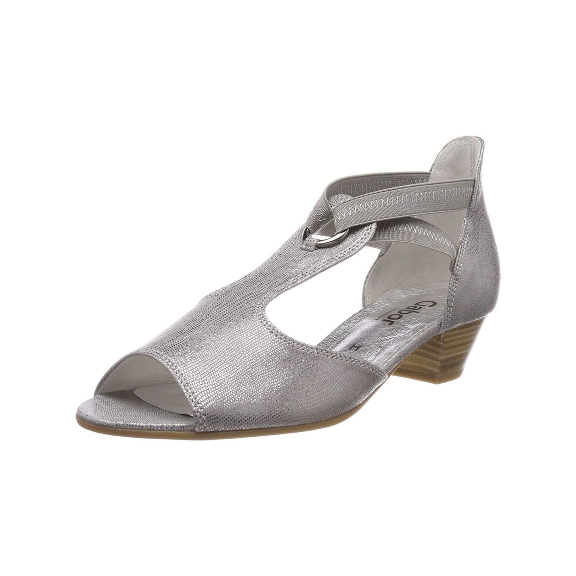 Damen Gabor Sandalen grau, weiß | 04058394220029