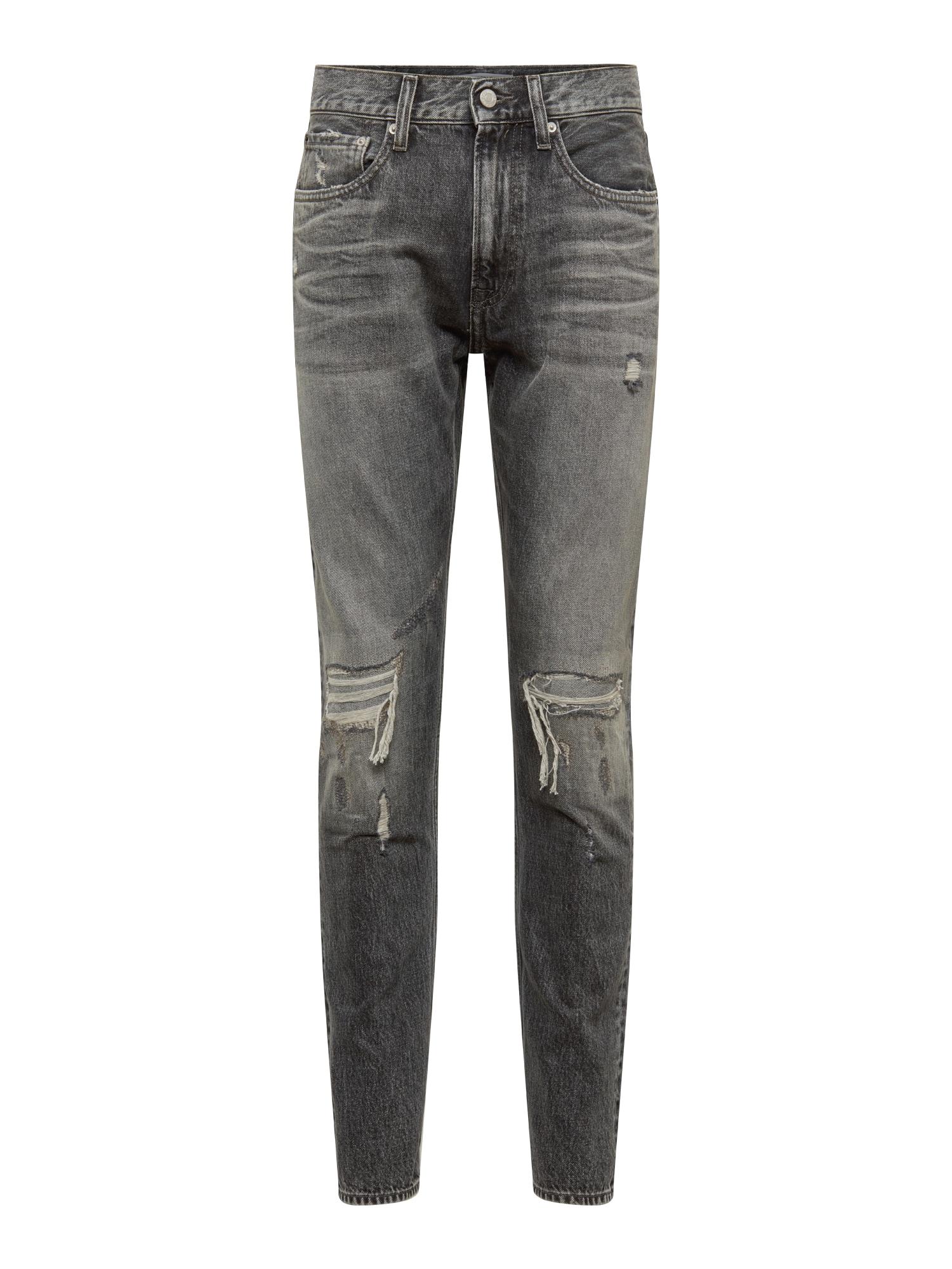 Džíny CKJ 056 ATHLETIC TAPER šedá džínová Calvin Klein Jeans