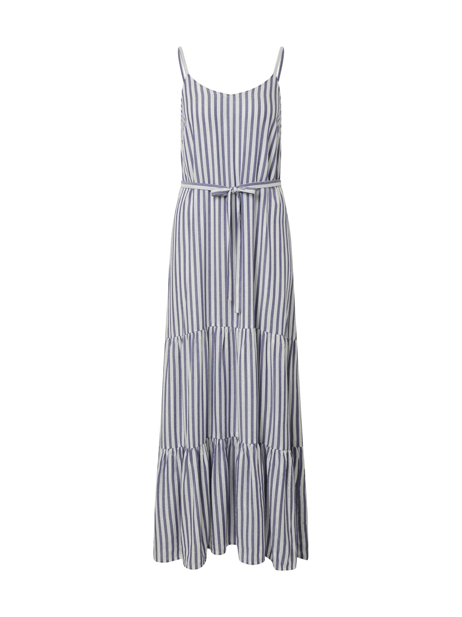 SISTERS POINT Letné šaty 'ILVO-ST.DR'  biela / modré