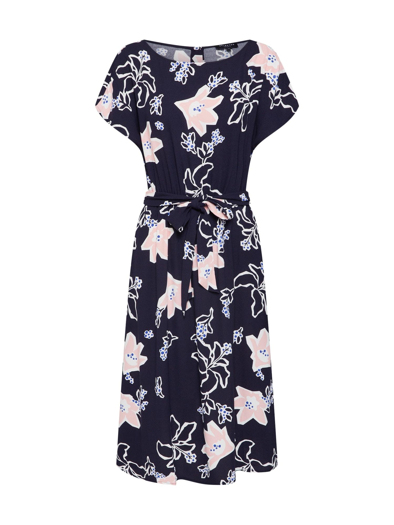 Letní šaty SLFRINNA VIENNA noční modrá SELECTED FEMME