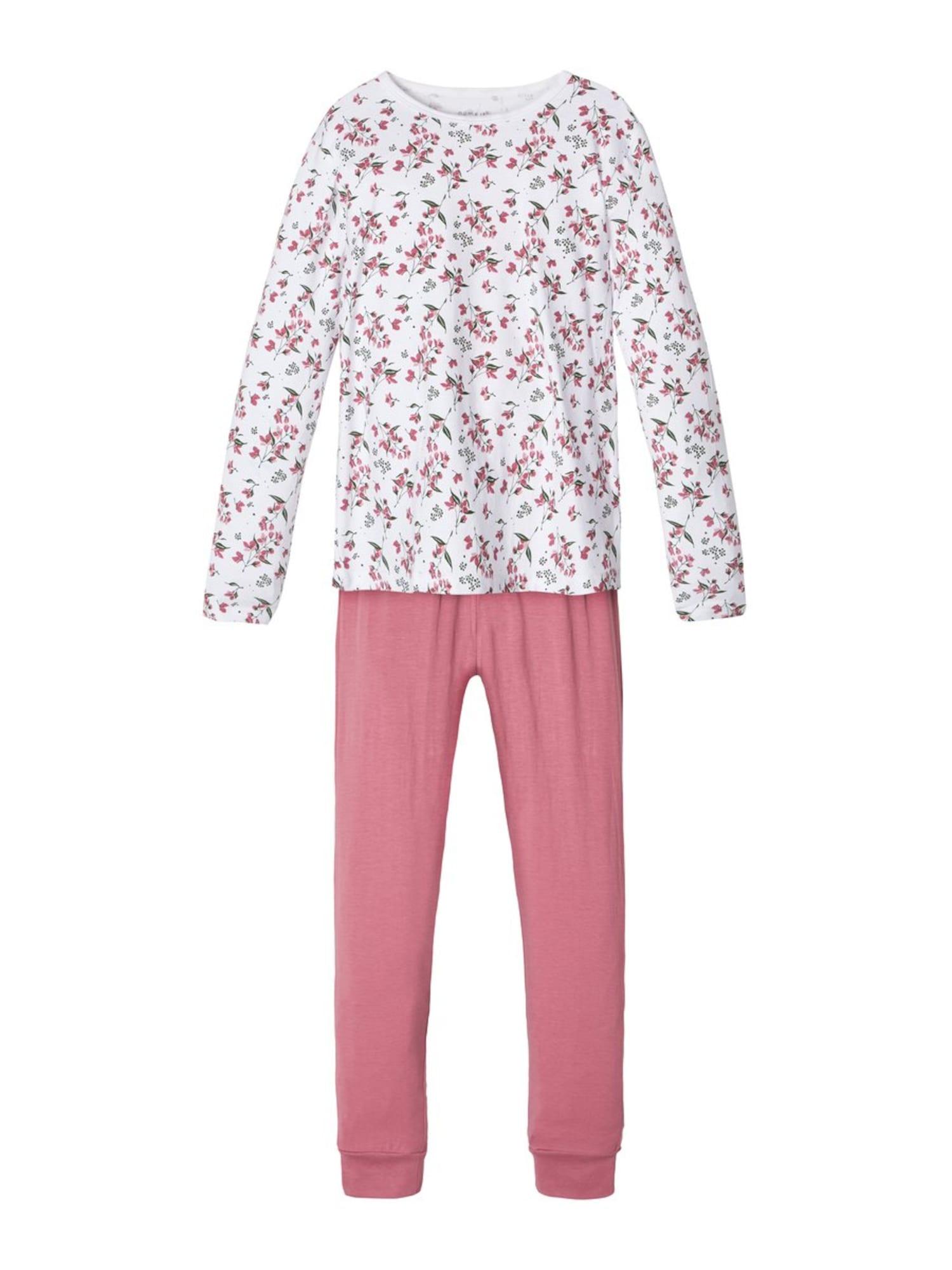 NAME IT Miego kostiumas rožinė / balta
