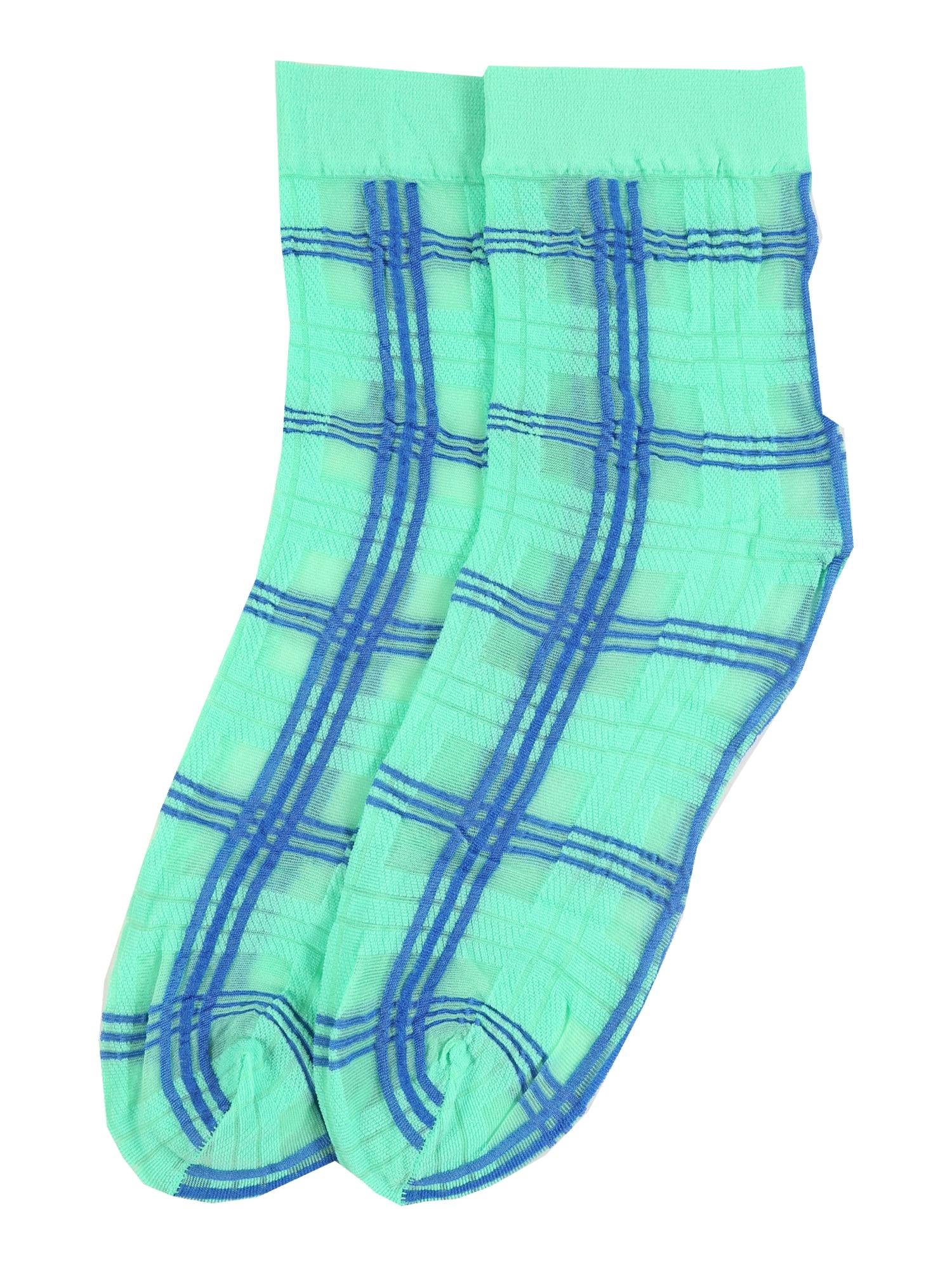 Swedish Stockings Kojinės 'Greta Tartan' mėlyna / žalia