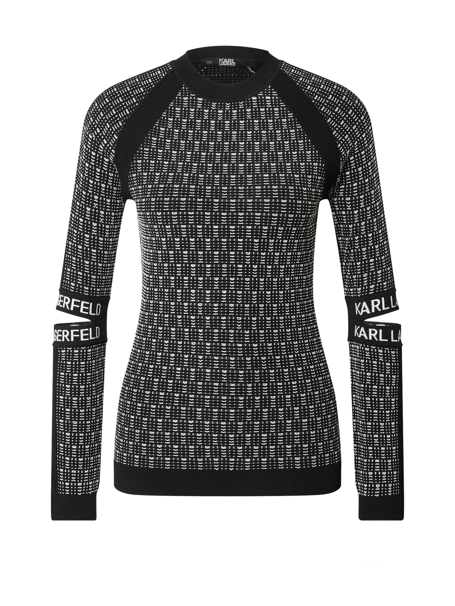 Karl Lagerfeld Megztinis balta / juoda
