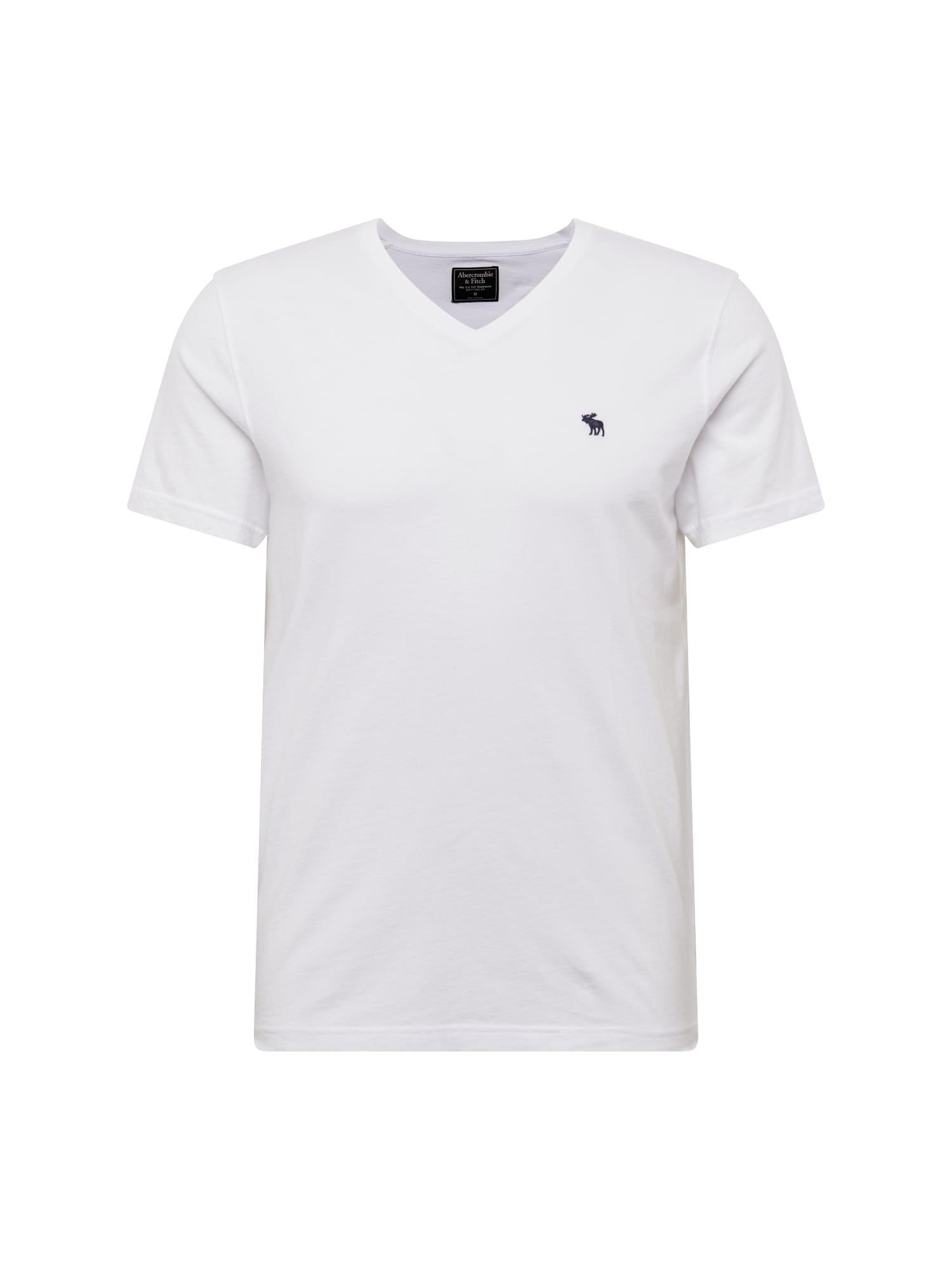 Abercrombie & Fitch Marškinėliai 'GLBL V NECK MULTIPACK' balta