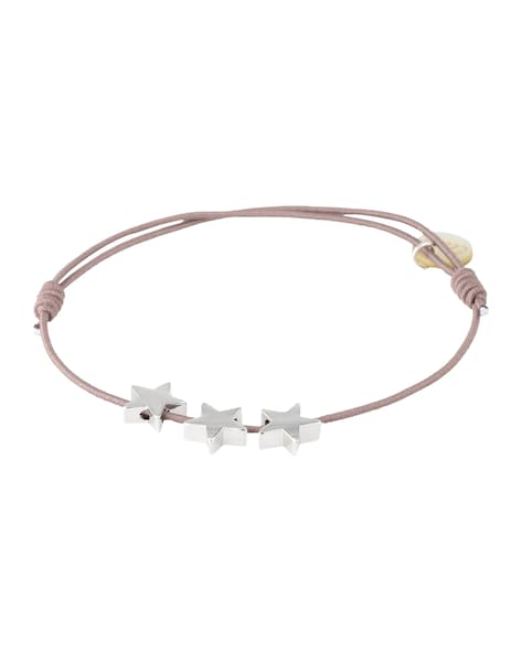 Armbaender für Frauen - Lua Accessories Armband '3 Stars' taupe silber  - Onlineshop ABOUT YOU