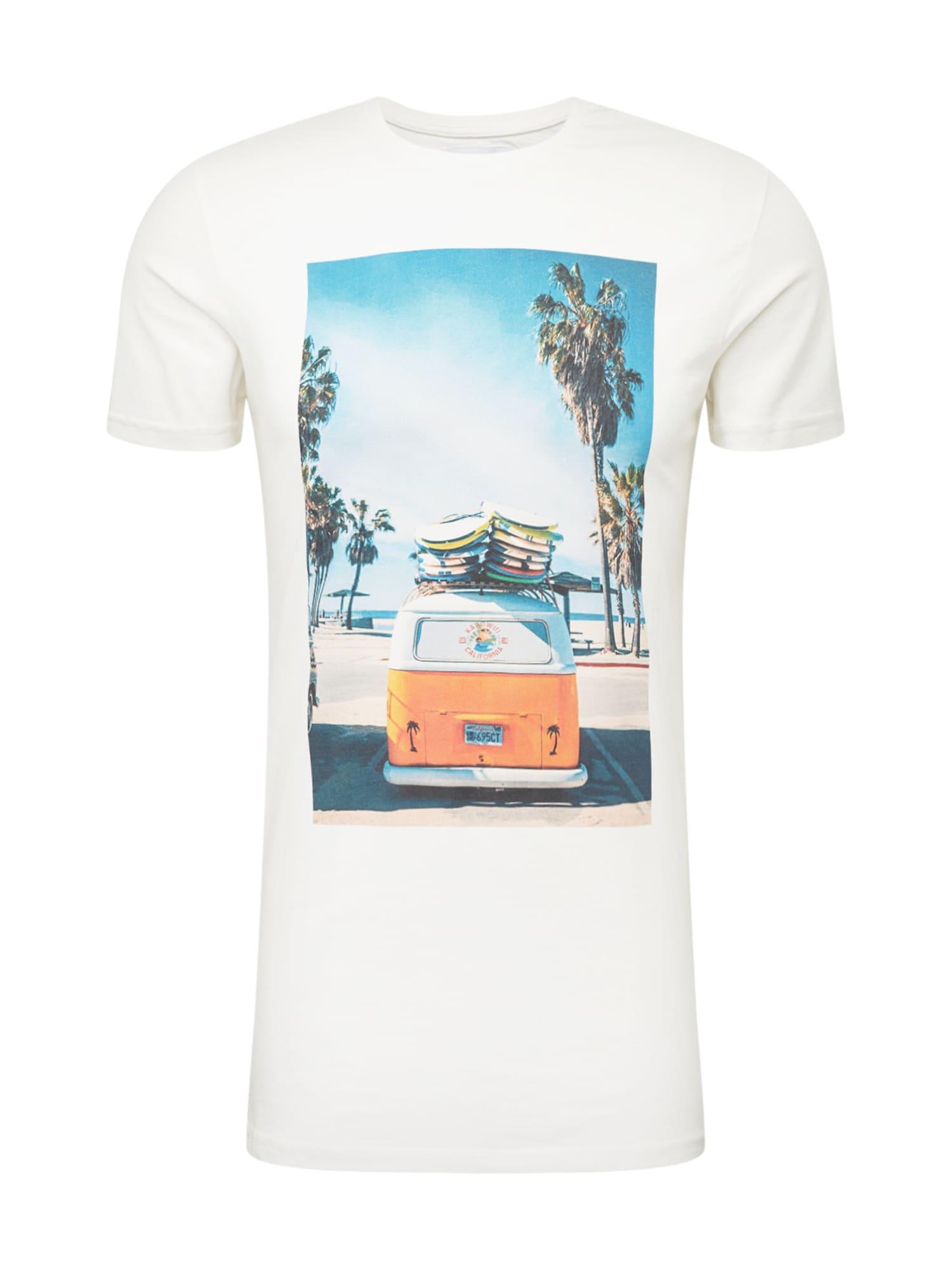 Kronstadt Marškinėliai balta / mišrios spalvos