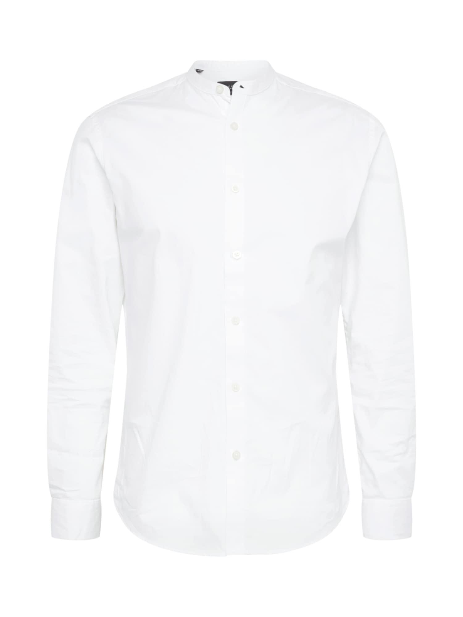 Košile SLIMMARTIN-CHINA bílá SELECTED HOMME