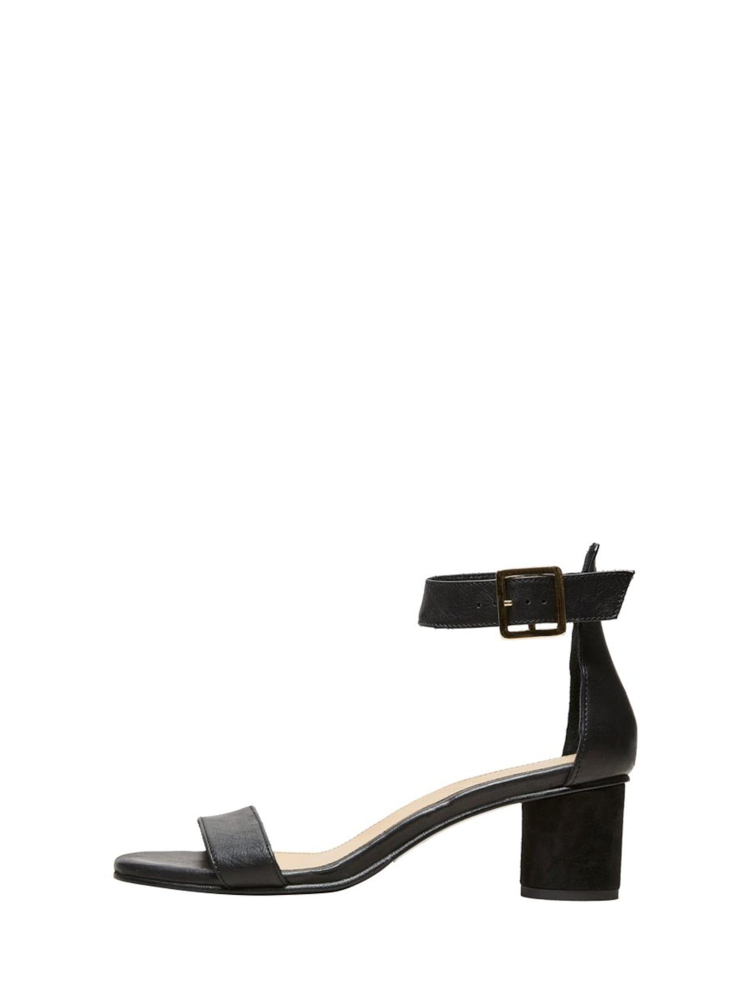 Páskové sandály černá SELECTED FEMME