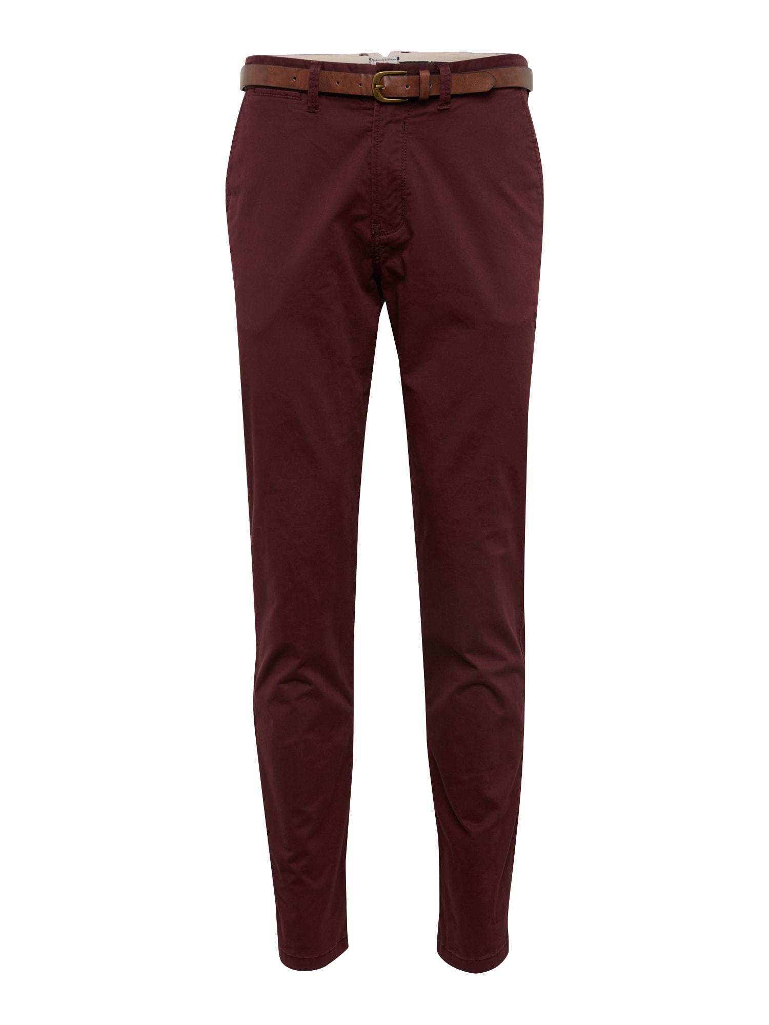 Chino kalhoty CODY JJSPENCER vínově červená JACK & JONES