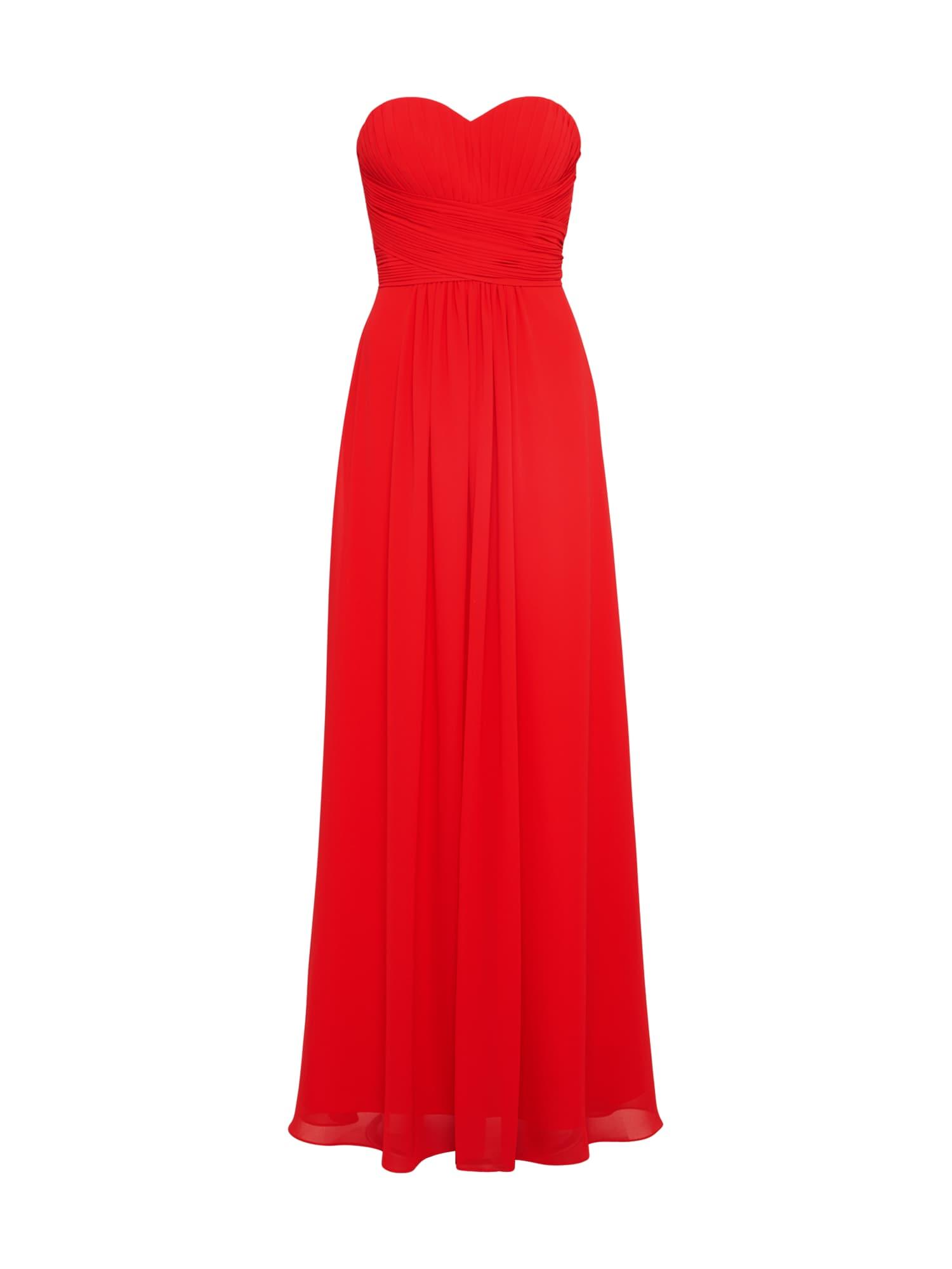Společenské šaty MC181071 červená třešeň Mascara