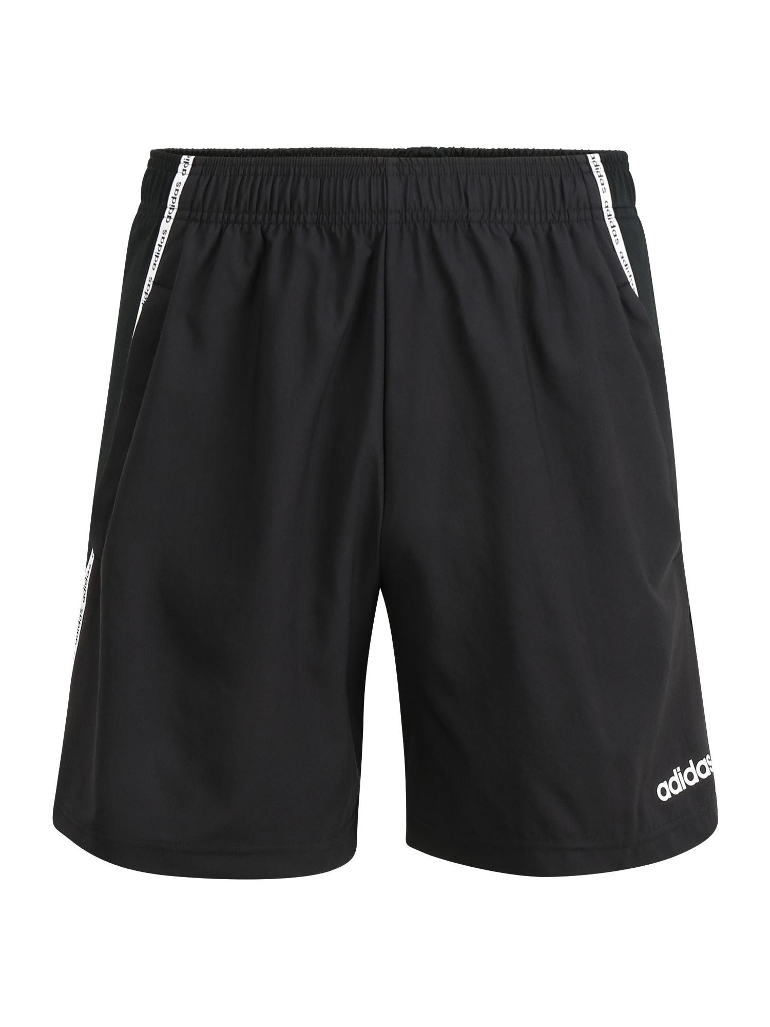 ADIDAS PERFORMANCE Sportinės kelnės 'M D2M MIX SHORT' balta / juoda