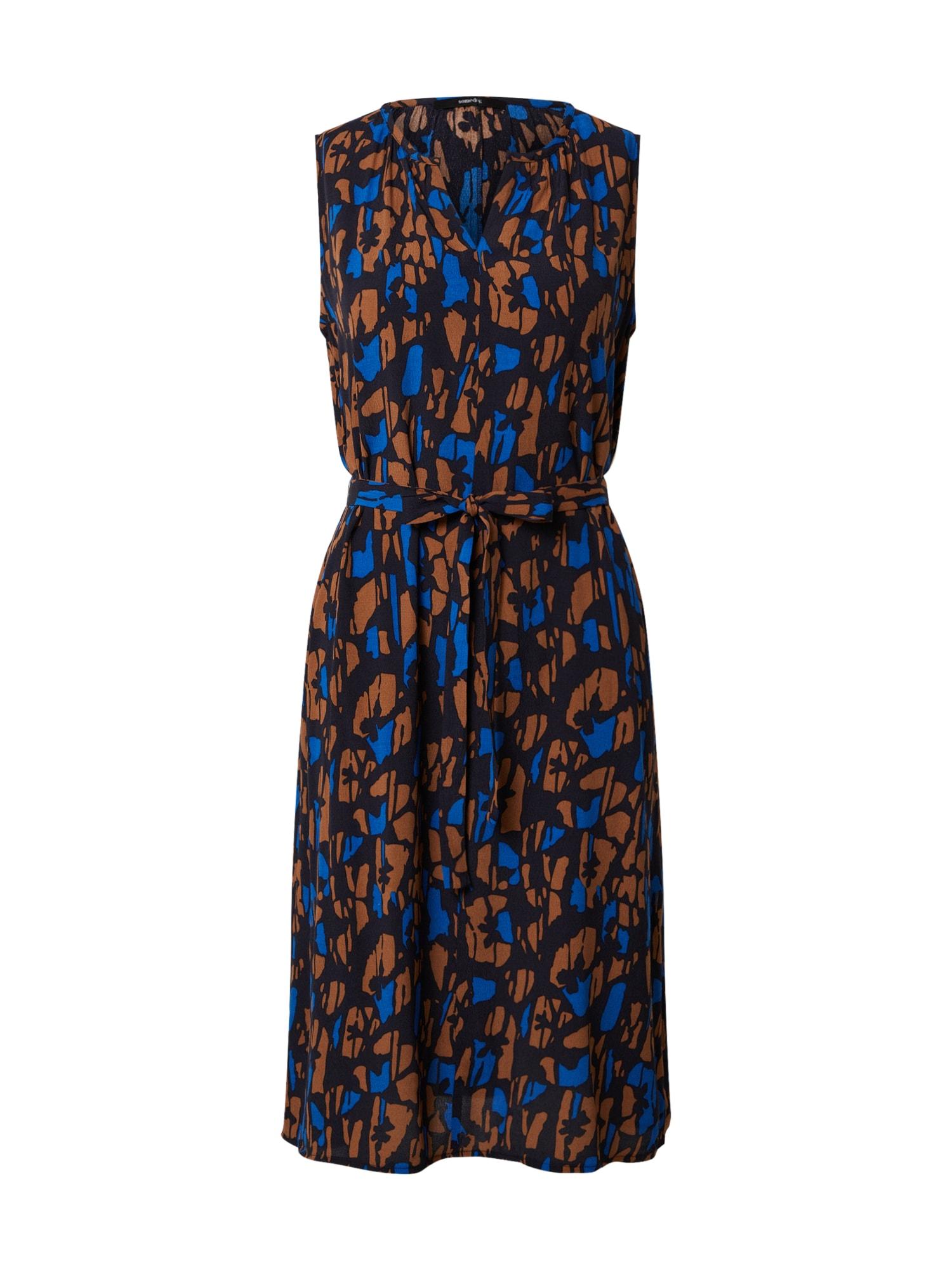 Someday Letné šaty 'Qasillo'  tmavomodrá / hnedé / čierna