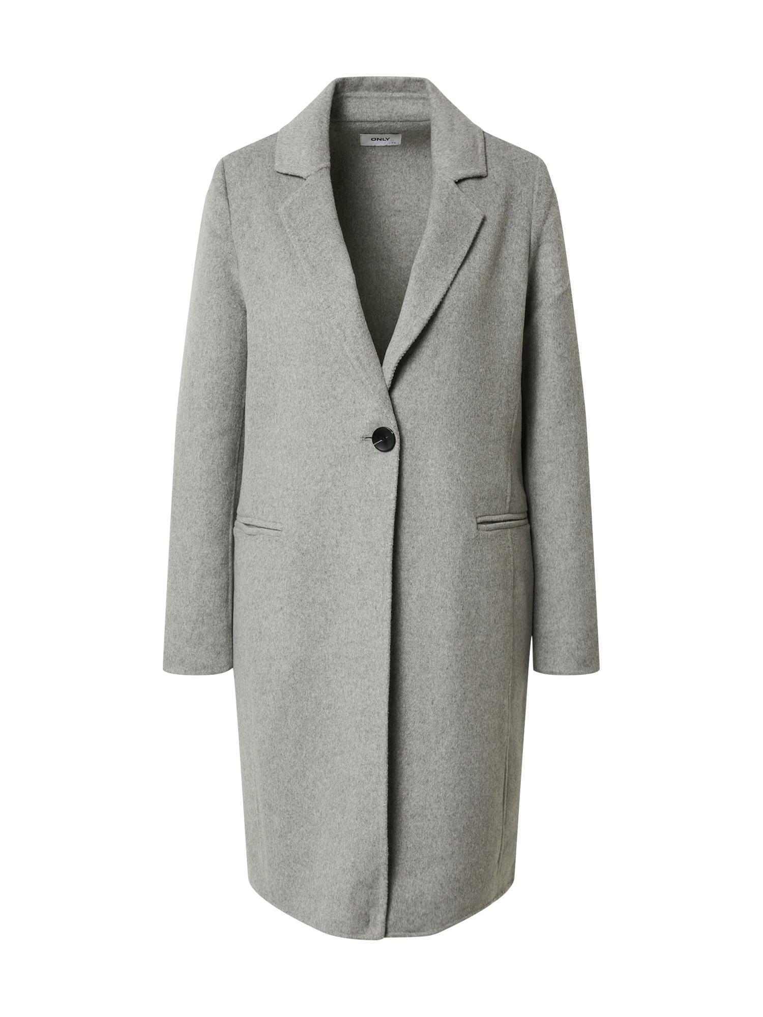 ONLY Přechodný kabát 'Milano'  světle šedá