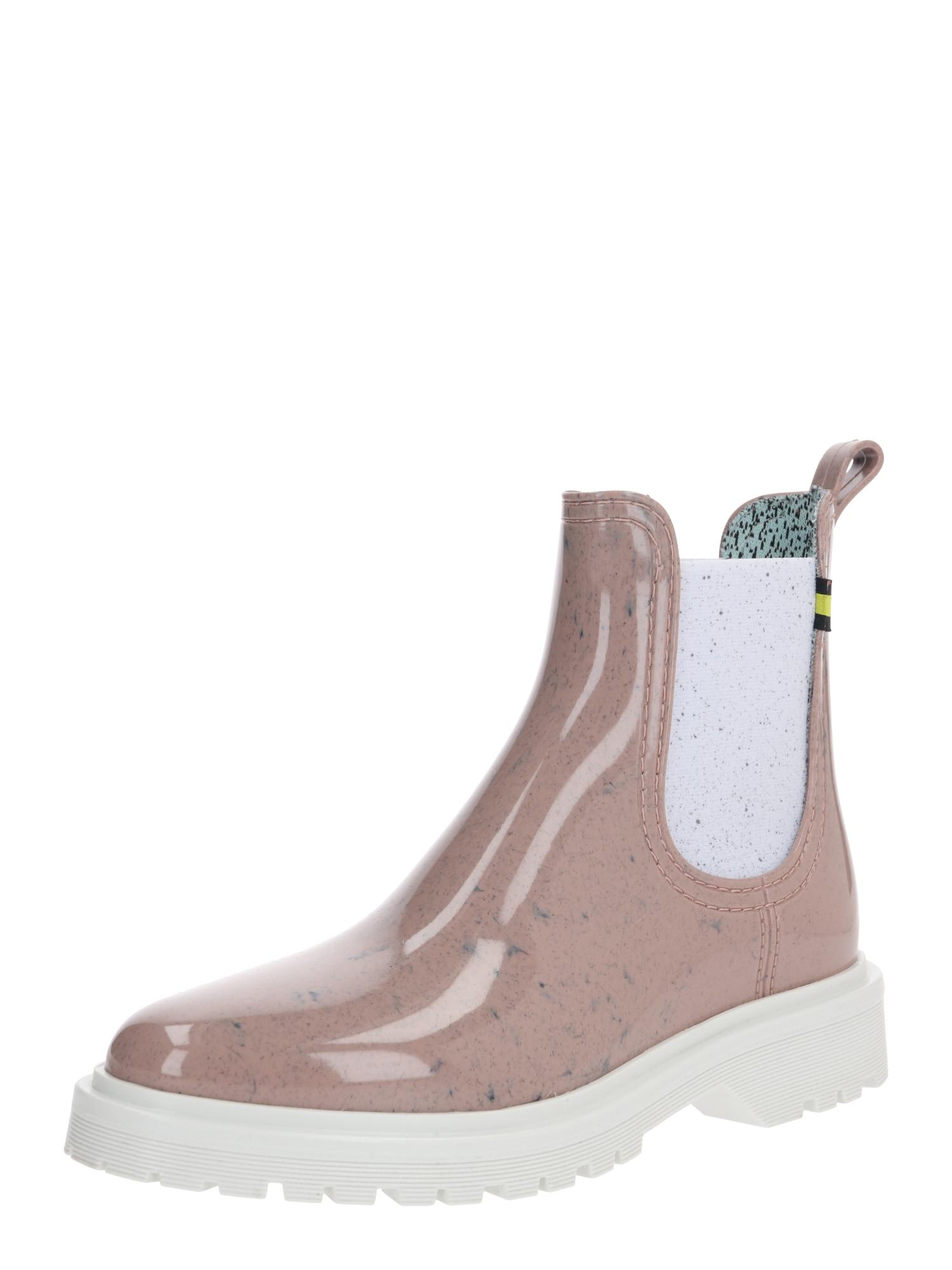 LEMON JELLY Cizme de cauciuc 'MAREN'  alb / roze