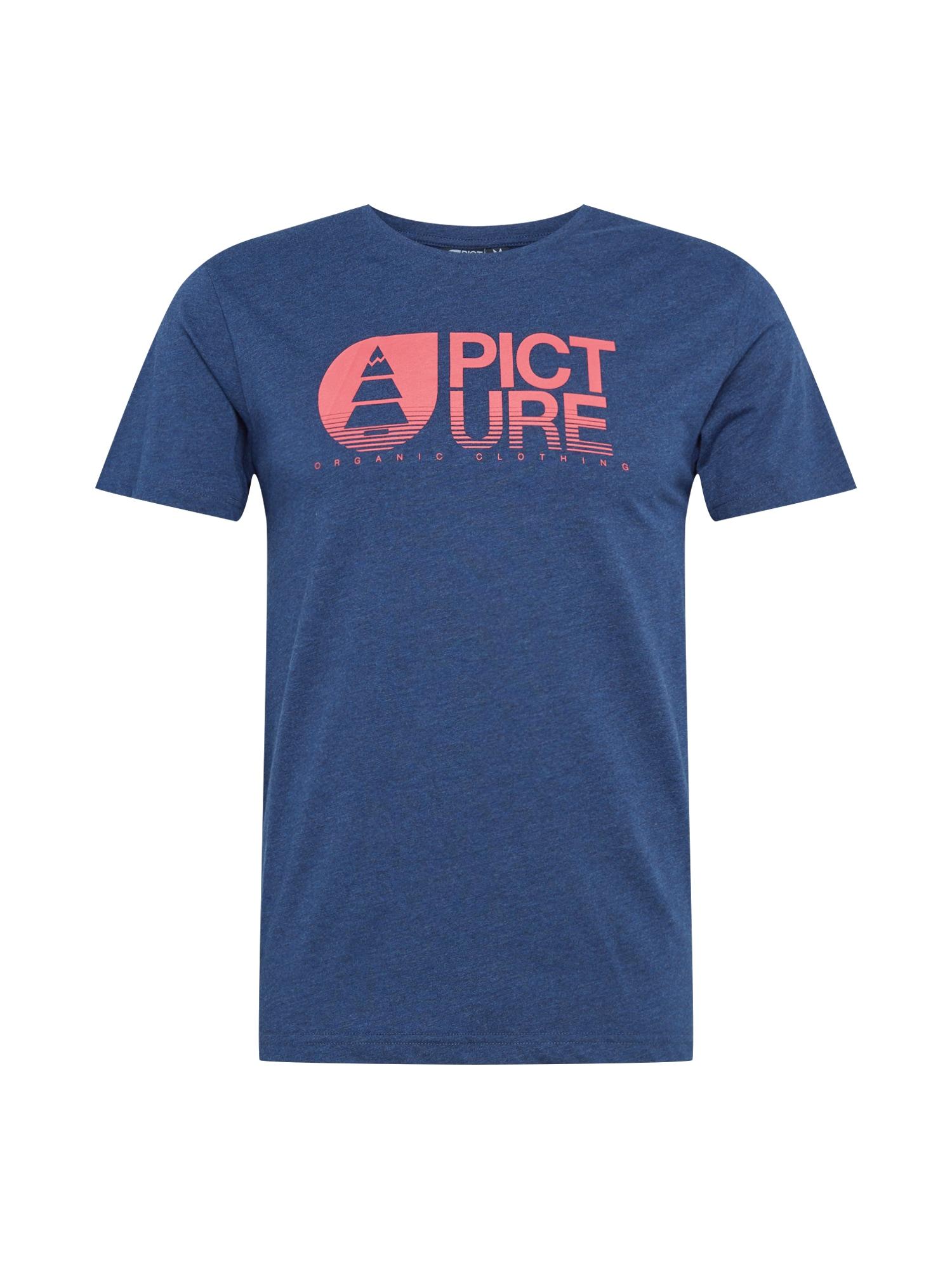 Picture Organic Clothing Sportiniai marškinėliai margai mėlyna / rožių spalva