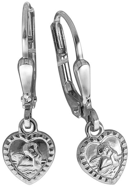 Ohrringe für Frauen - FIRETTI Paar Ohrhänger »Herz Schutzengel« silber  - Onlineshop ABOUT YOU