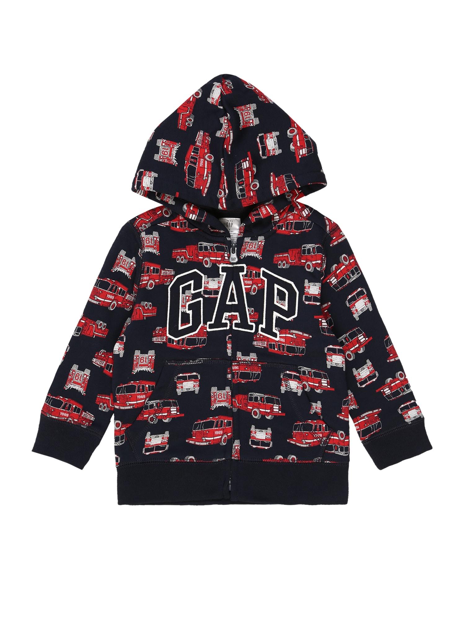 GAP Džemperis juoda / raudona