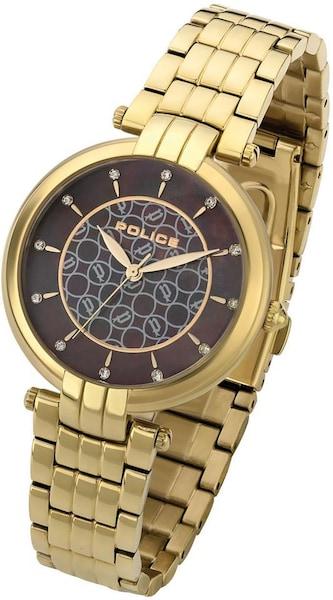 Uhren für Frauen - POLICE Quarzuhr 'CORAL' braun gold  - Onlineshop ABOUT YOU