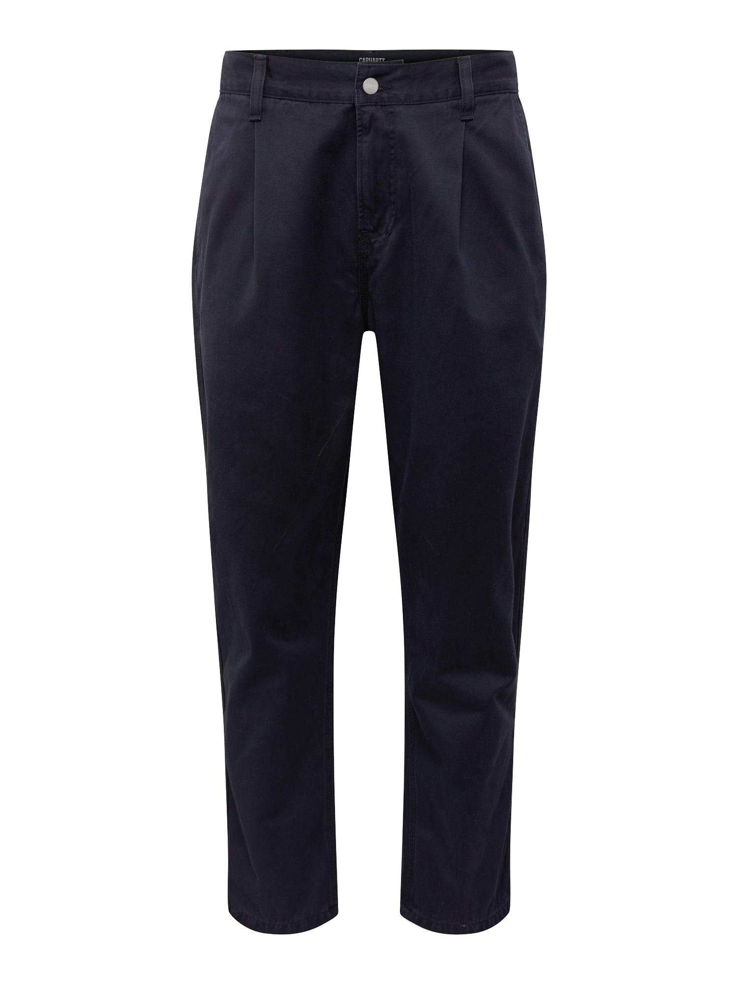 Kalhoty se sklady v pase Abbott námořnická modř Carhartt WIP