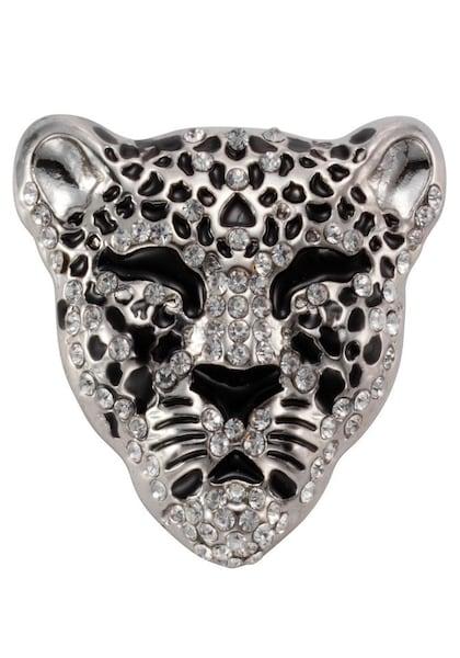 Broschen für Frauen - J. Jayz Brosche 'Tiger 138 1386' schwarz silber weiß  - Onlineshop ABOUT YOU