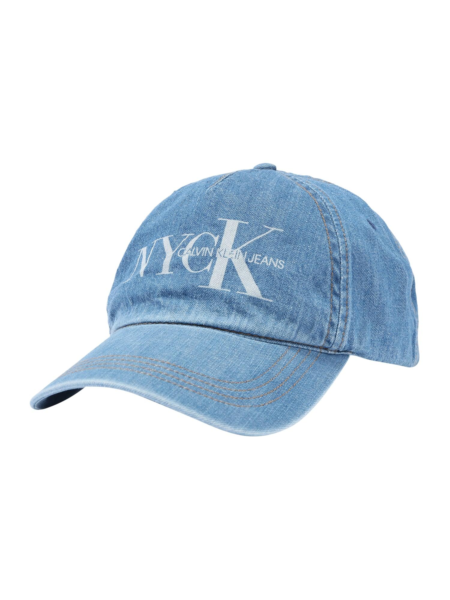 Calvin Klein Jeans Čiapka 'CKJ NYCK CAP'  modré