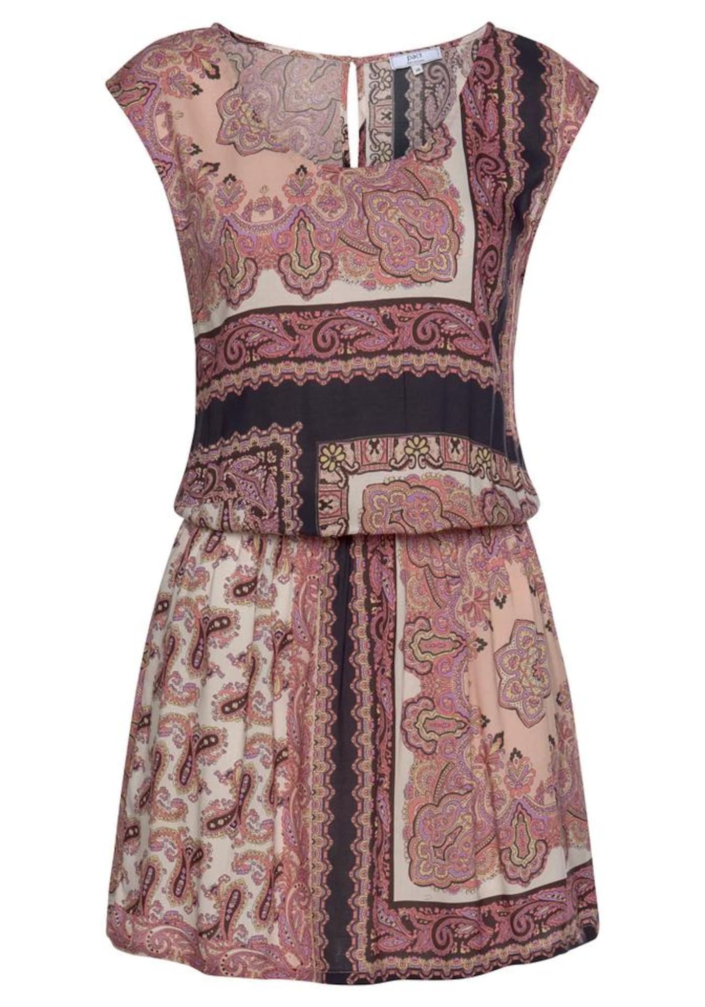 LASCANA Paplūdimio suknelė ryškiai rožinė spalva / rausvai pilka