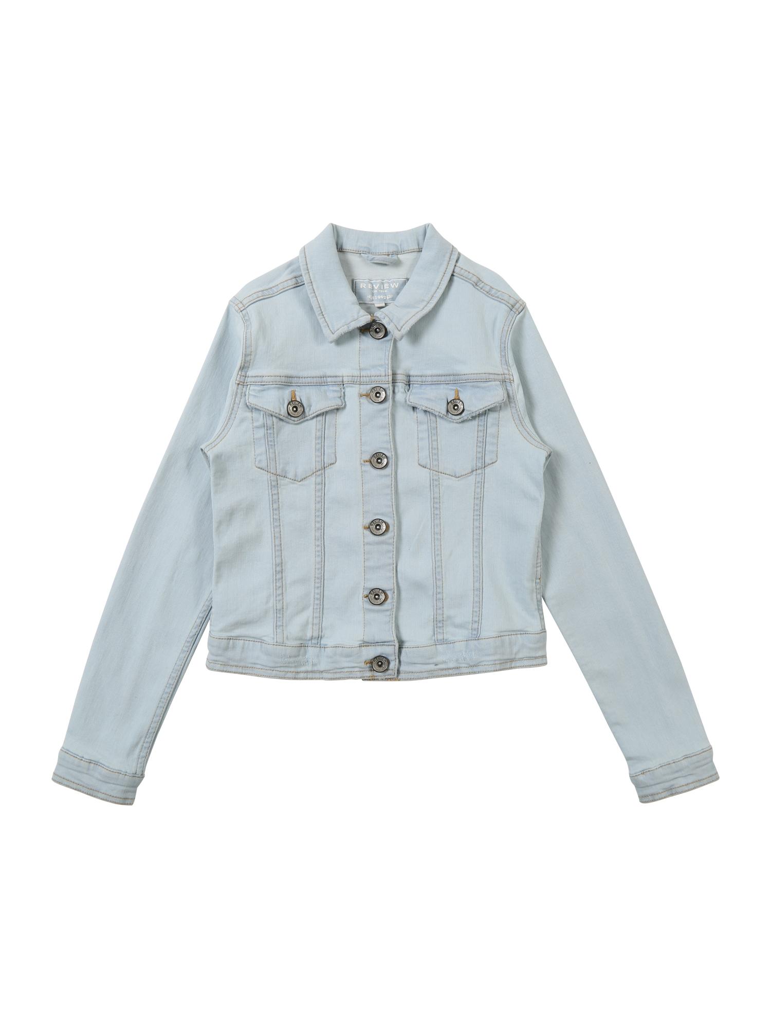 Přechodná bunda modrá džínovina REVIEW FOR TEENS