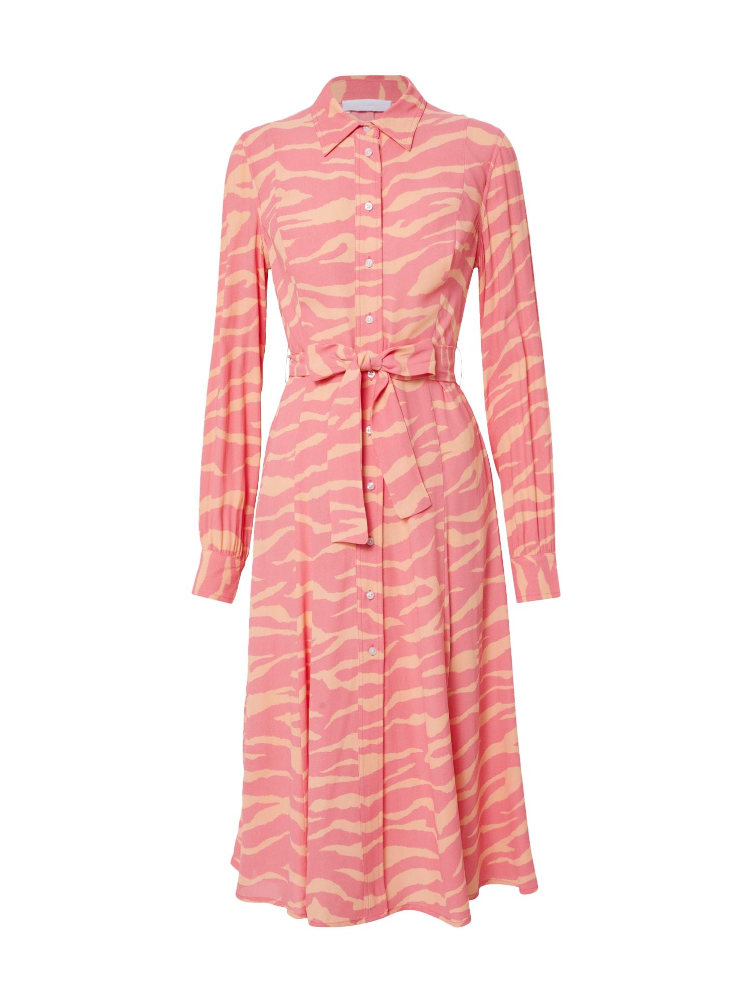 2NDDAY Palaidinės tipo suknelė 'Limelight Zebra' rožinė / oranžinė