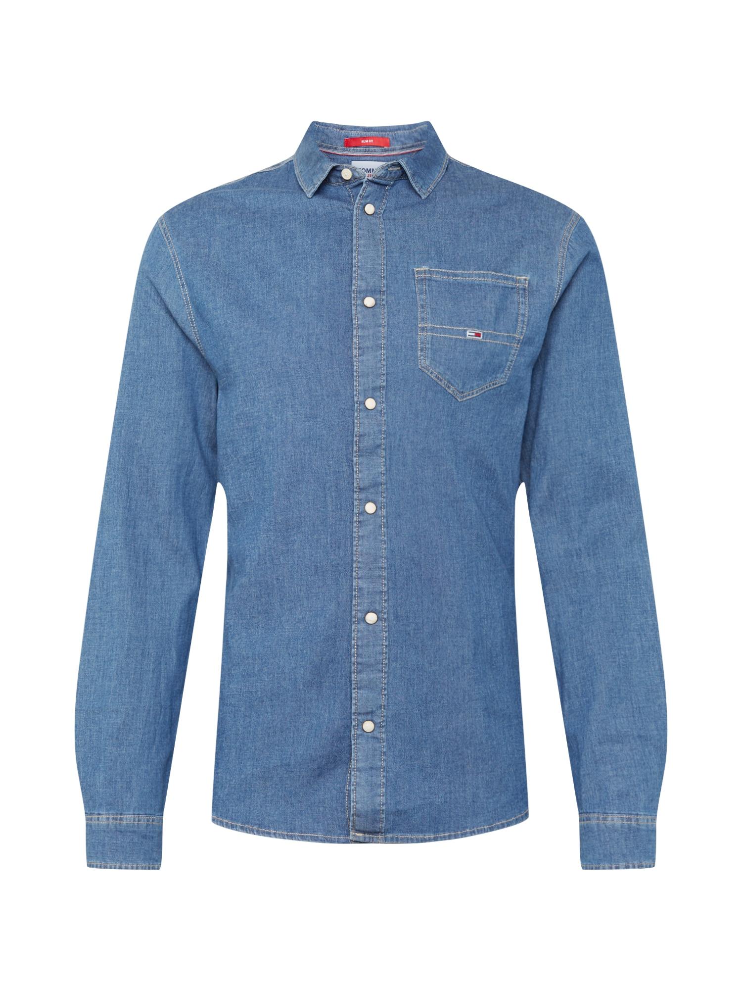 Tommy Jeans Marškiniai tamsiai (džinso) mėlyna