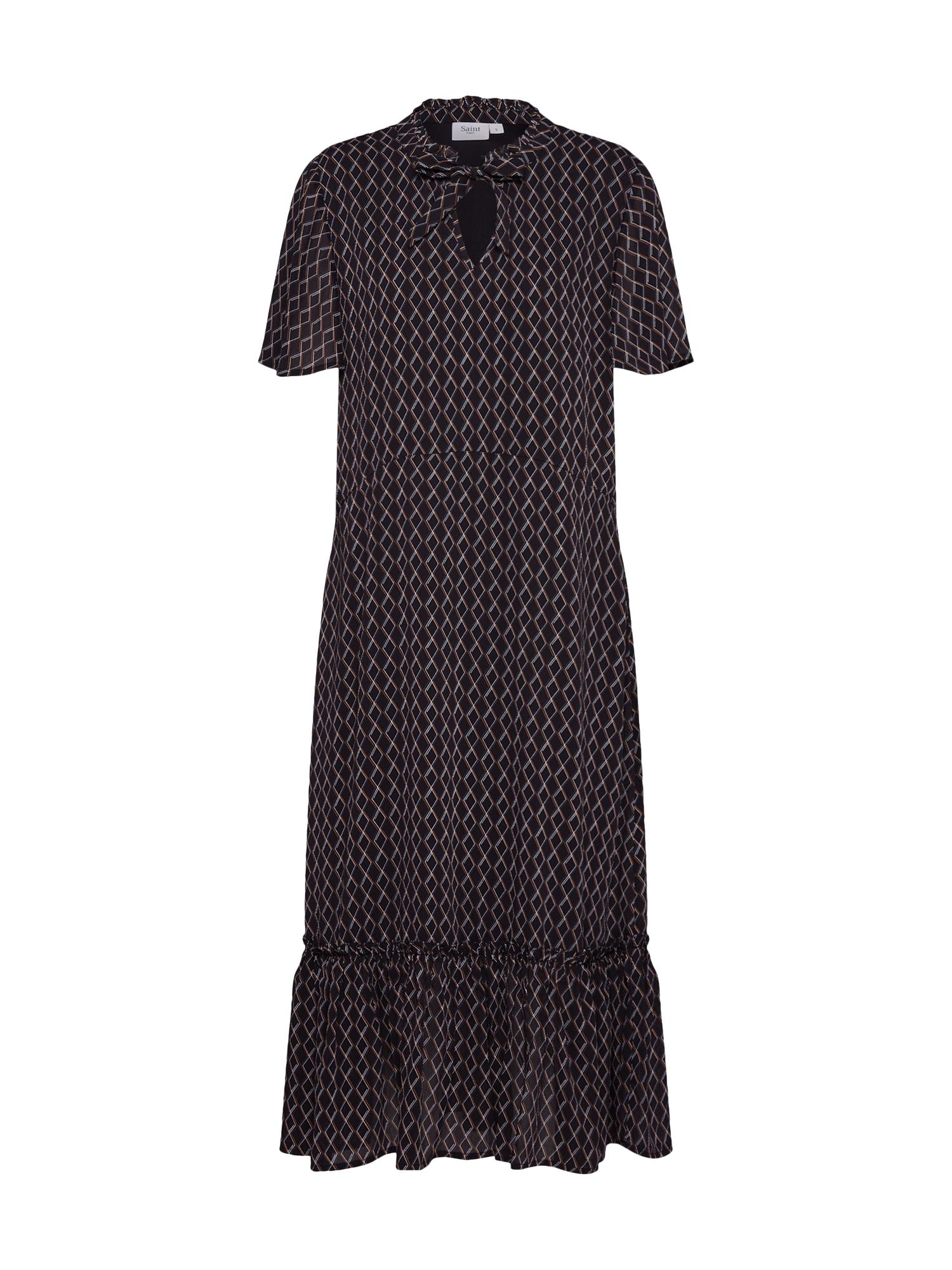 Košilové šaty WOVEN DRESS - MAXI černá SAINT TROPEZ