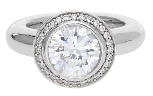 Ringe für Frauen - ESPRIT Ring Antigone mit Zirkonia Steinbesatz ELRG92051A silber transparent  - Onlineshop ABOUT YOU