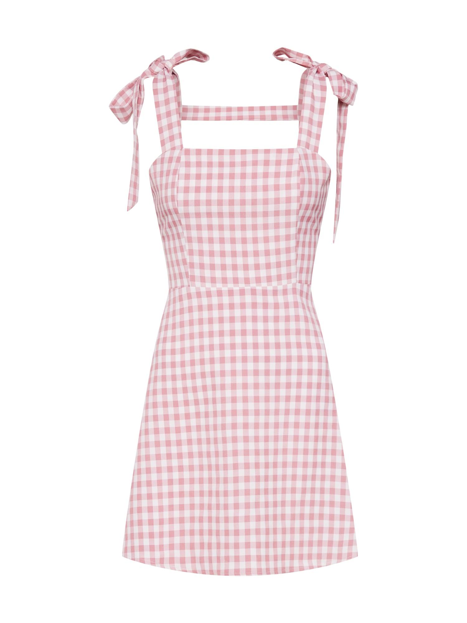 Letní šaty DAISY růžová bílá Fashion Union