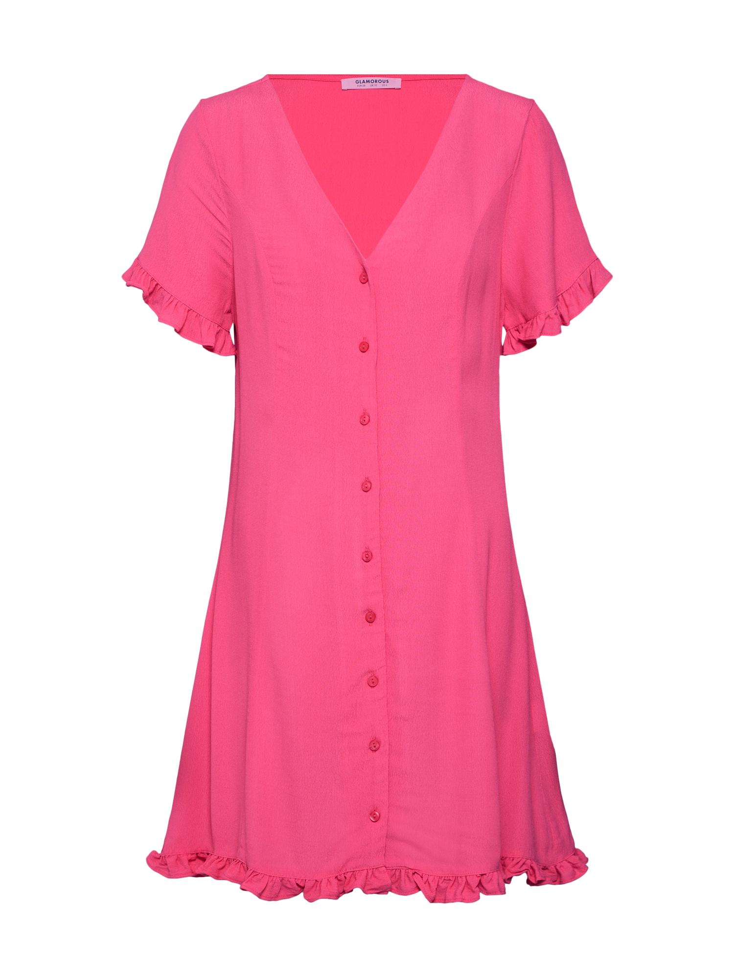 Šaty CK5316 pink GLAMOROUS