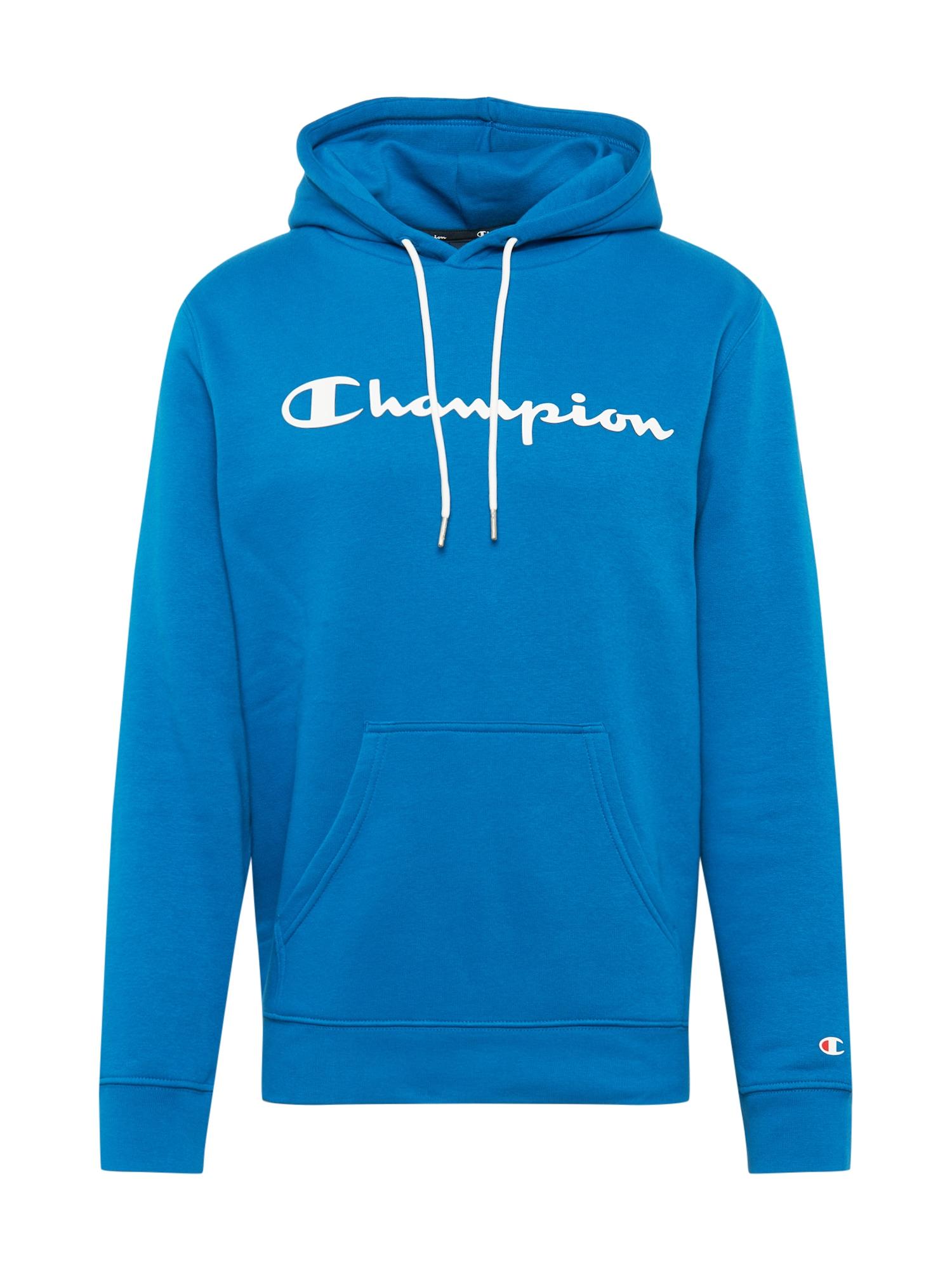 Champion Authentic Athletic Apparel Megztinis be užsegimo mėlyna / balta