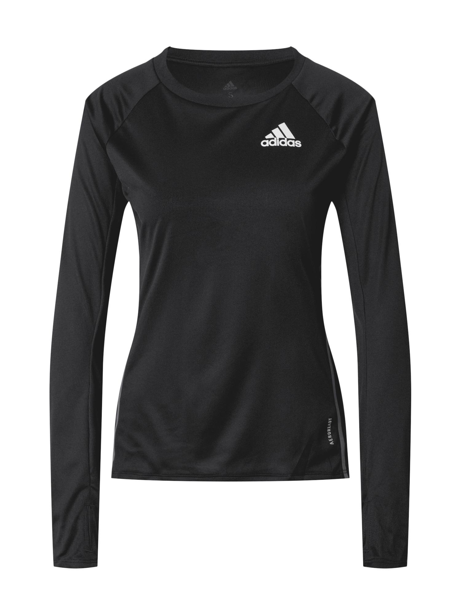 ADIDAS PERFORMANCE Sportiniai marškinėliai balta / juoda / raudona