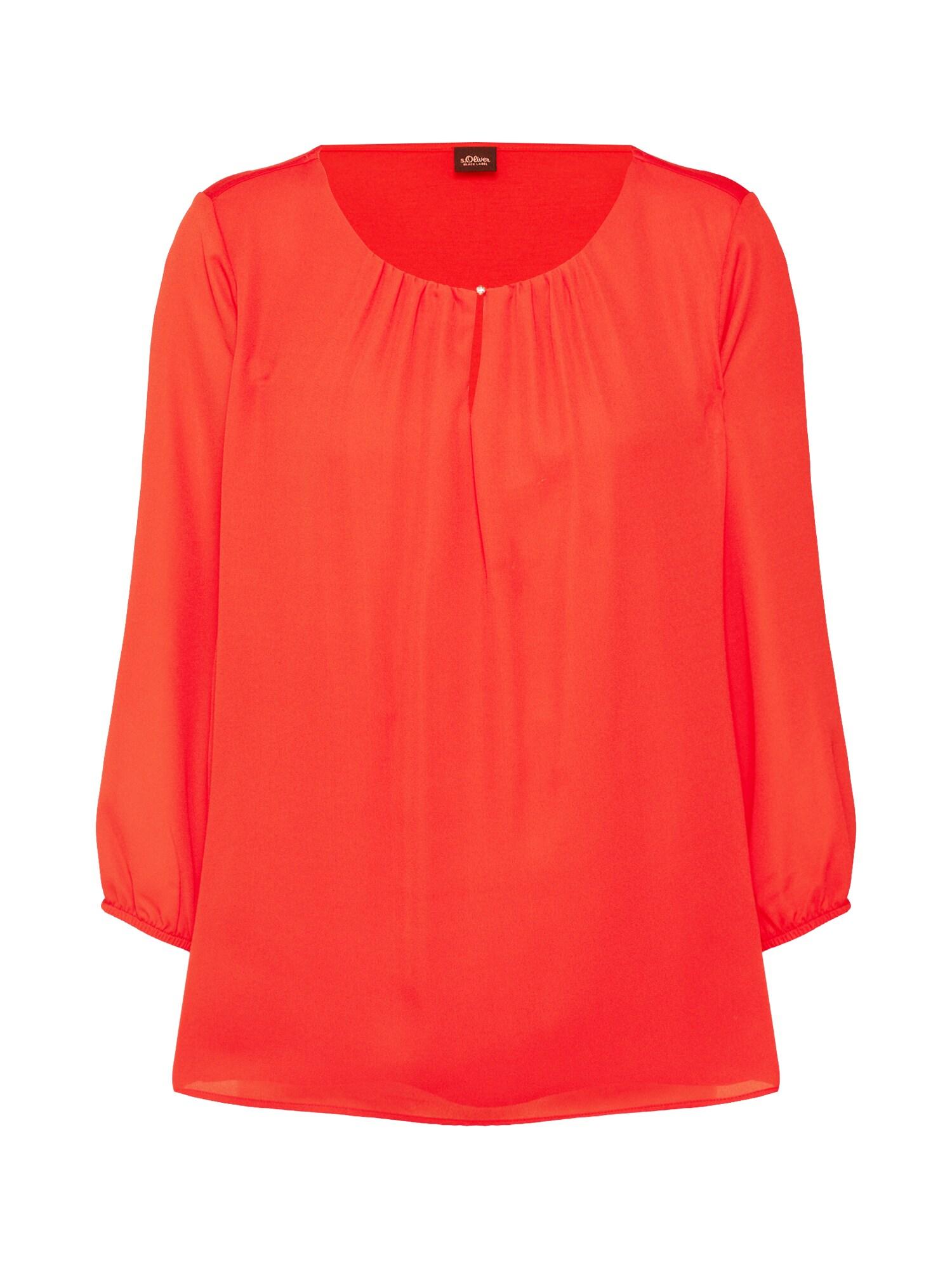 Tričko červená S.Oliver BLACK LABEL