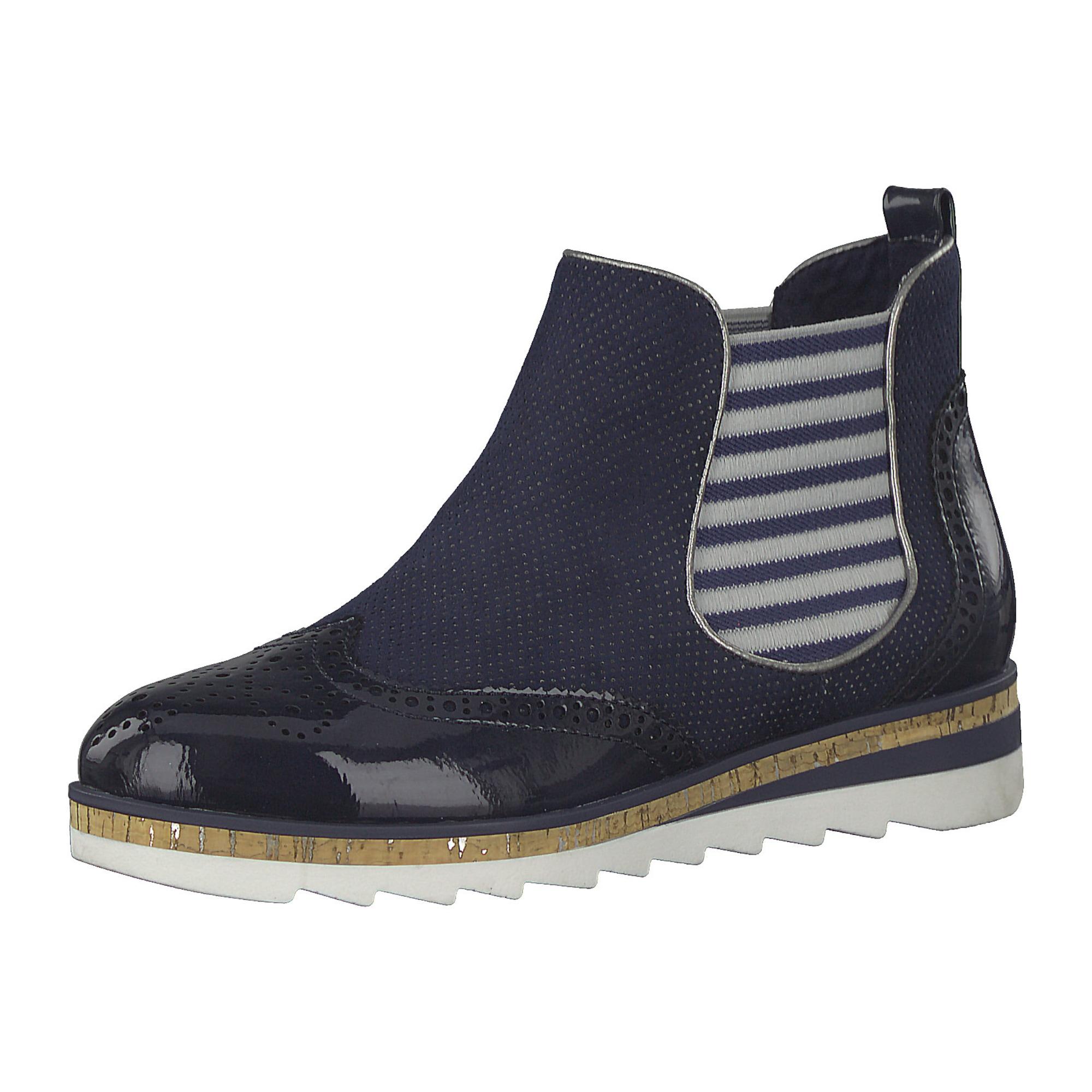 MARCO TOZZI Chelsea batai tamsiai mėlyna / šviesiai pilka