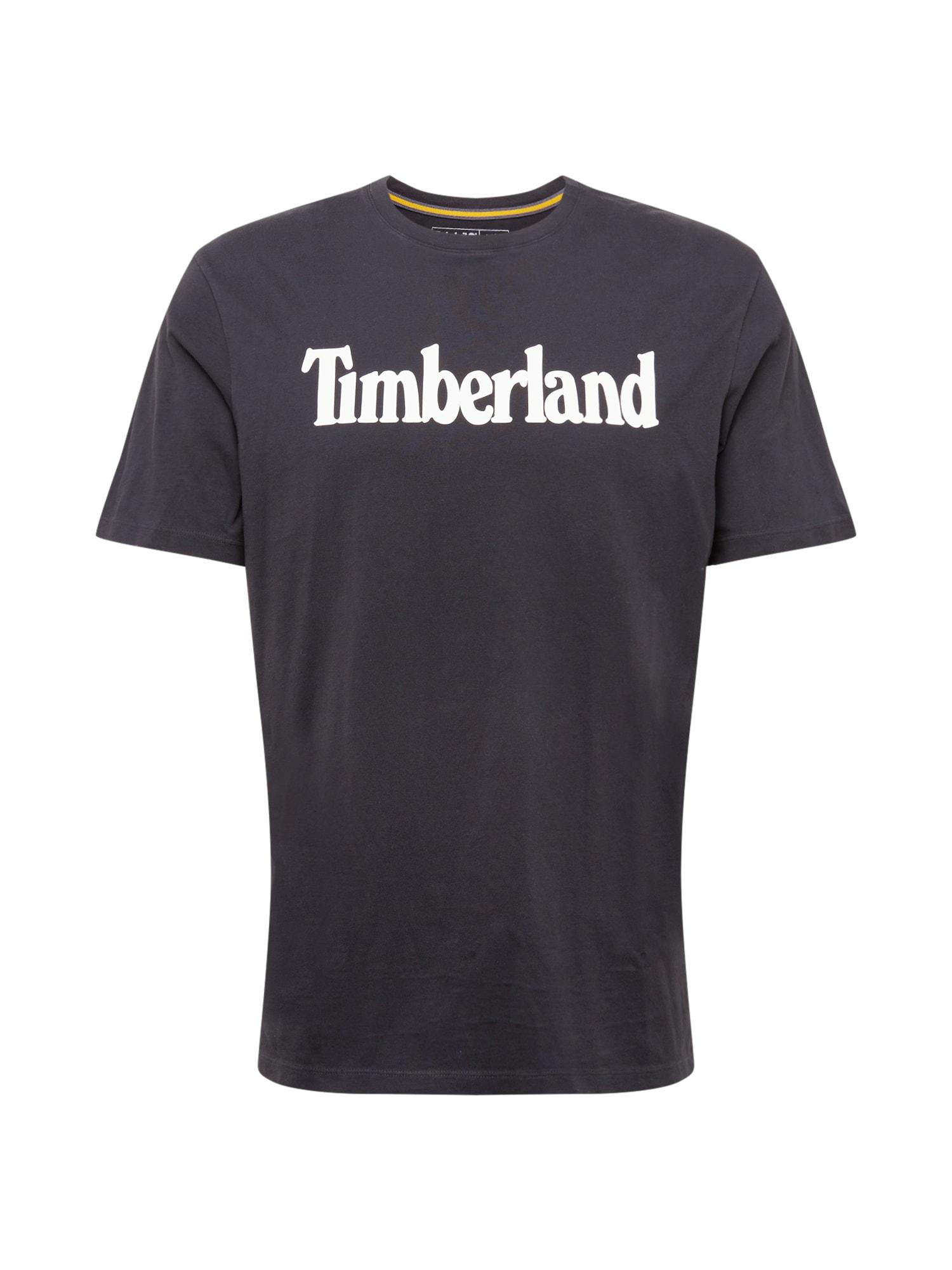 TIMBERLAND Marškinėliai juoda / balta
