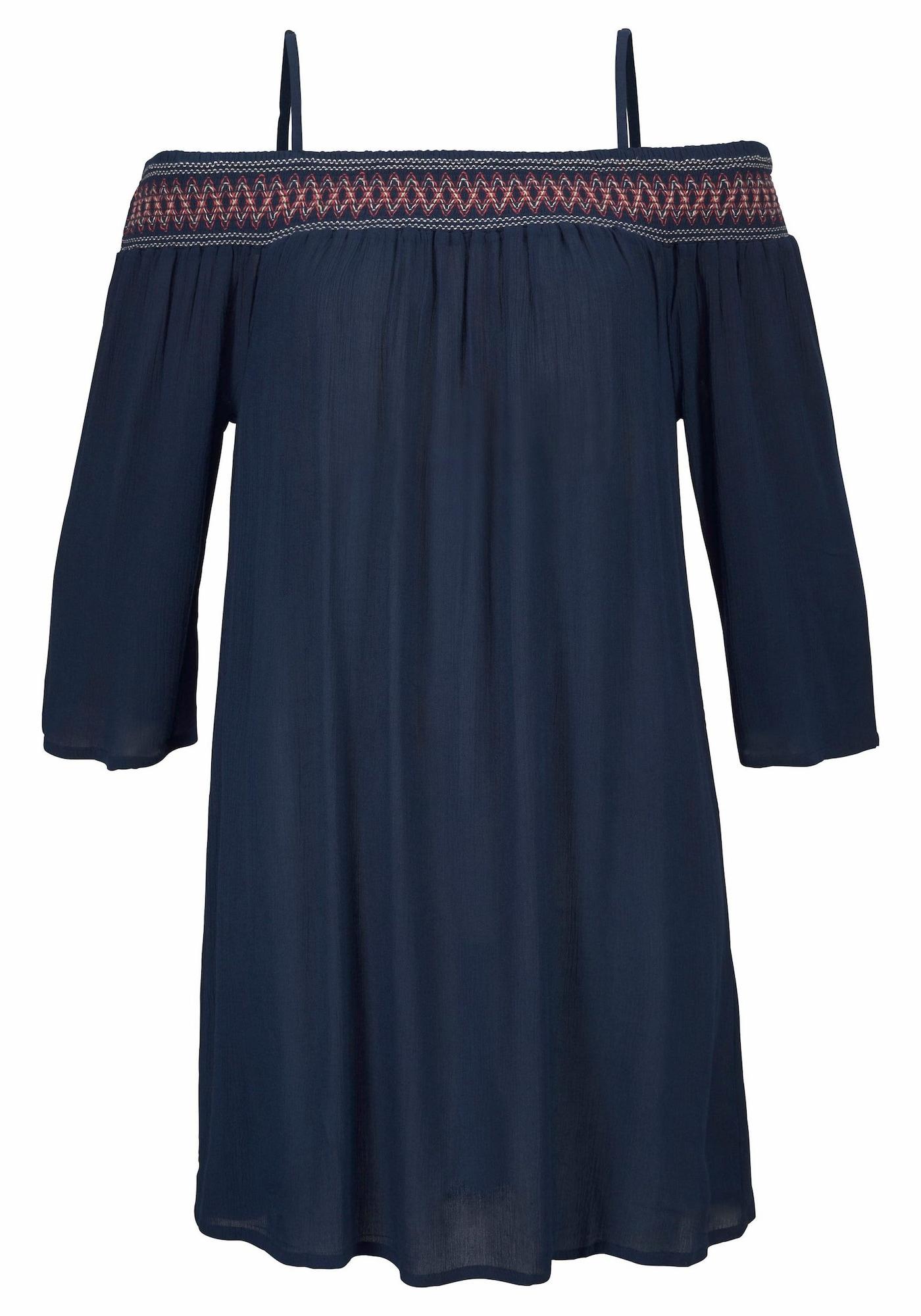 s.Oliver Paplūdimio suknelė tamsiai mėlyna / kraujo spalva
