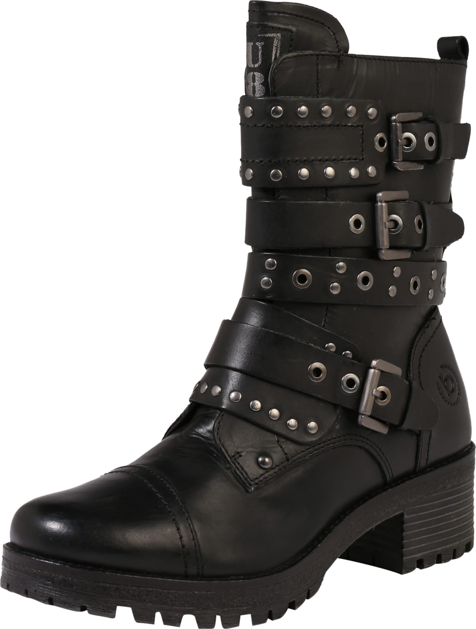bugatti boots mit schnallen in schwarz about you. Black Bedroom Furniture Sets. Home Design Ideas
