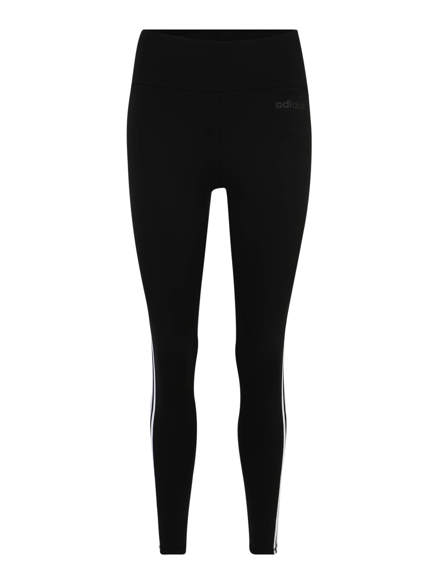 ADIDAS PERFORMANCE Športové nohavice 'W D2M 3S HR LT'  biela / čierna