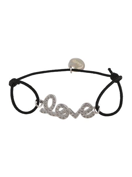 Armbaender für Frauen - Lua Accessories Armband 'Greatest Love' schwarz silber  - Onlineshop ABOUT YOU