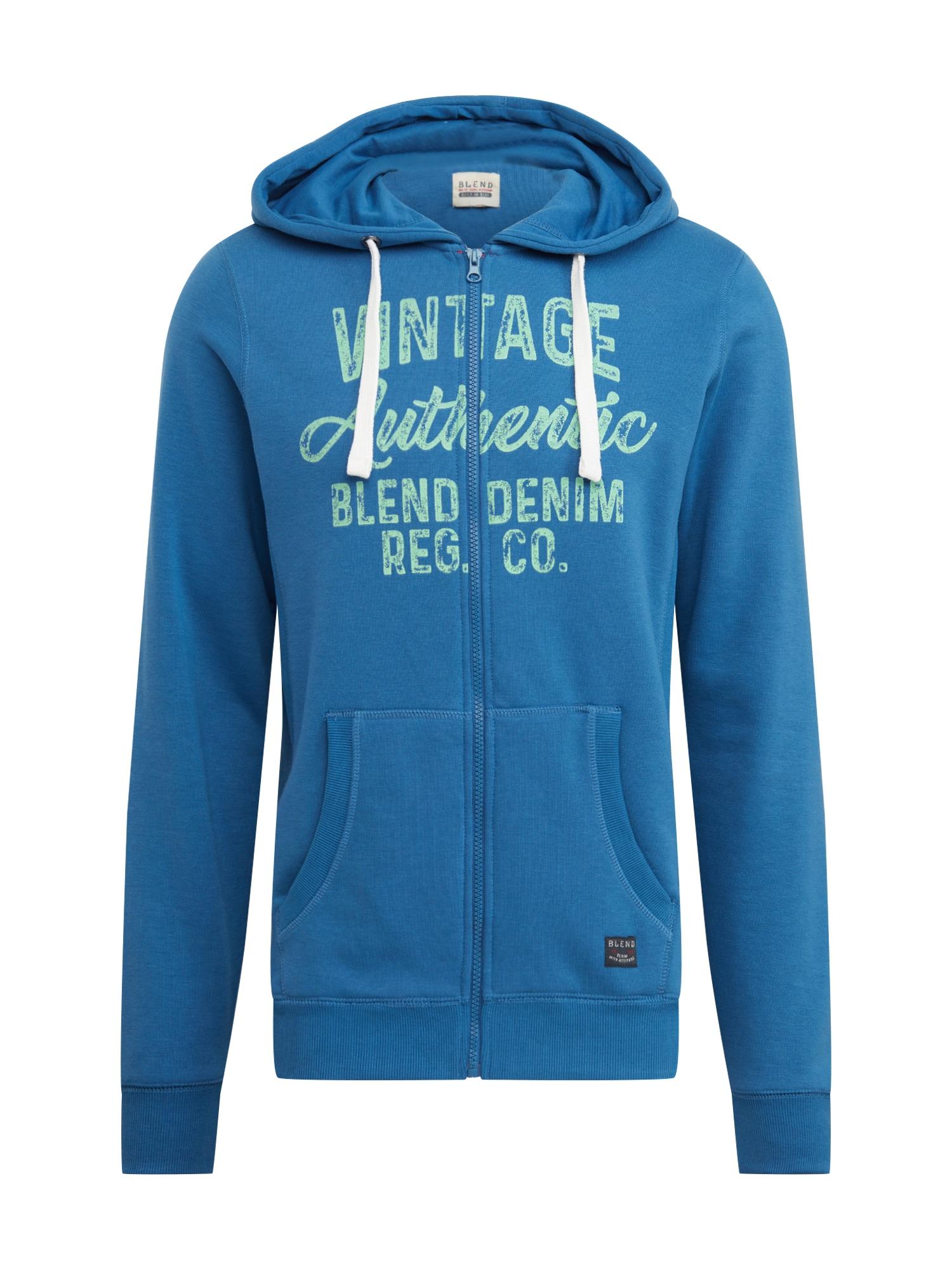 BLEND Džemperis dangaus žydra / šviesiai mėlyna