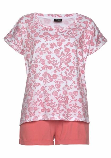 Waesche für Frauen - Pyjama › VIVANCE › koralle pink weiß  - Onlineshop ABOUT YOU